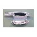 2 DOOR CHROME HANDLE BOWL INSERT COVER TRIM FOR All New Chevrolet Colorado 2012 V.2