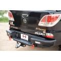 กันชนท้าย G-SERIES REAR BAR For fit Mazda Bt 50 Pro Hamer พร้อมห่วงแดง OMG + ชุดบอล ball  V.2
