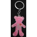 พวงกุญแจ  fashion แฟชั่น ลาย หมี I'm LOVE HOLIC สีชมพู