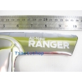 CHROME HANDLE BOWL INSERT COVER TRIM 2 DOOR OPEN CAB FOR ALL NEW FORD RANGER 2012 V.2